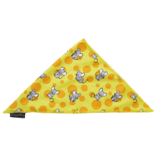 Cat Cooling Bandana Cheesin' Around Cheese and Mice Print