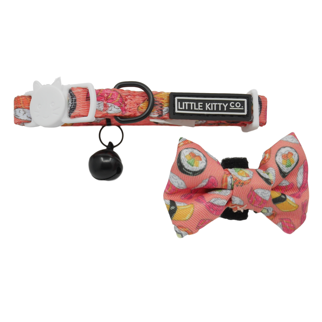 CAT COLLAR & BOW TIE: Sashimi (NEW!)