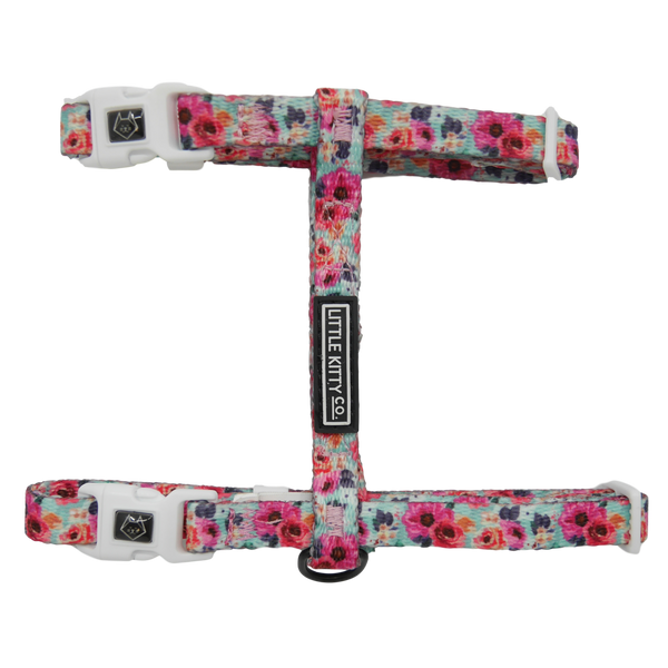 CAT STRAP HARNESS: That Floral Feeling (NEW!)