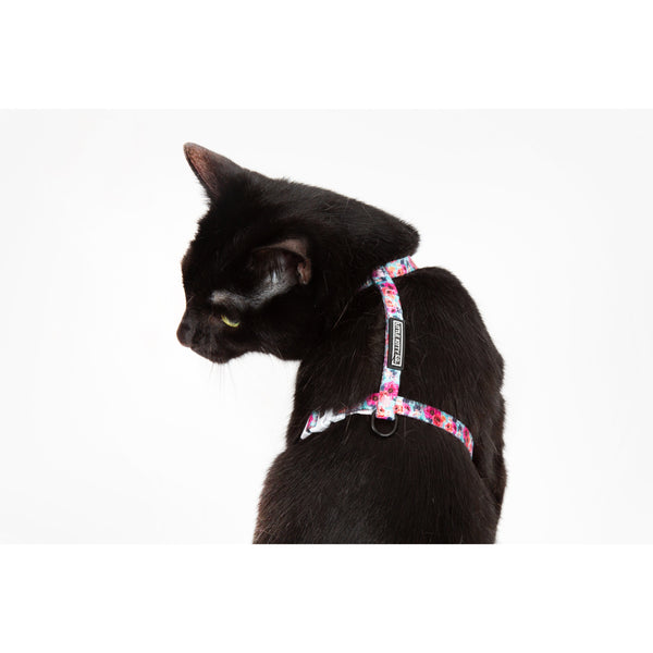 Little Kitty Co. Cat Strap Harness That Floral Feeling