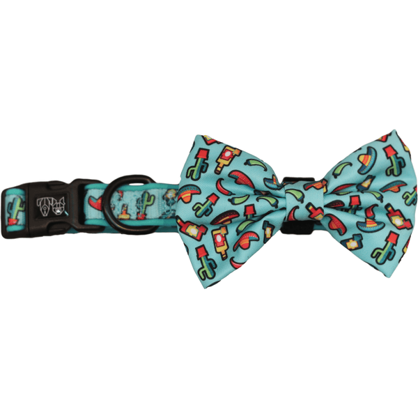 Mexican Fiesta Dog Collar and Bowtie