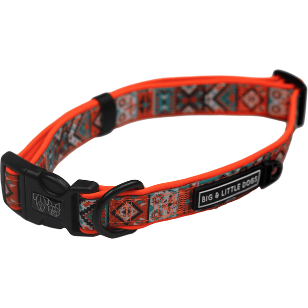Montezuma Orange Aztec Dog Collar