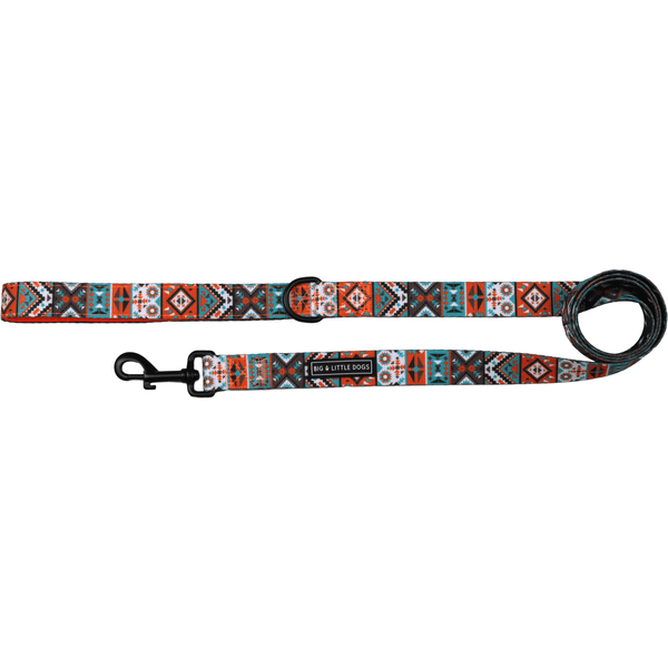 Aztec and Lightning Bolt Dual Sided Neoprene Lined Dog Leash