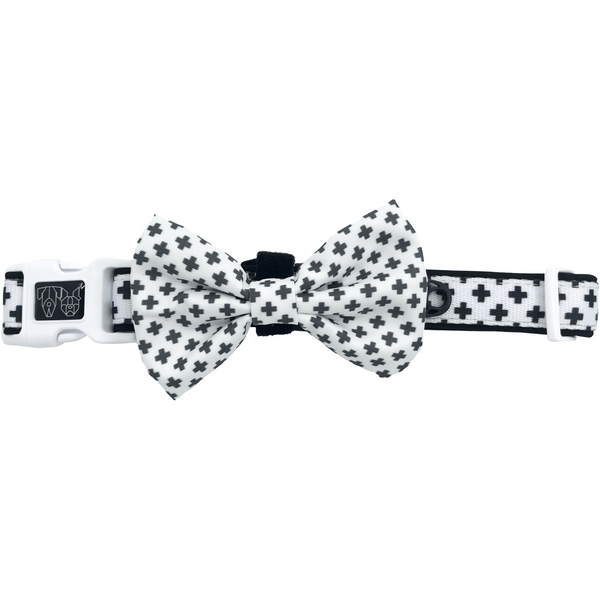 Nordic Crosses Comfort Dog Collar with Bow Tie
