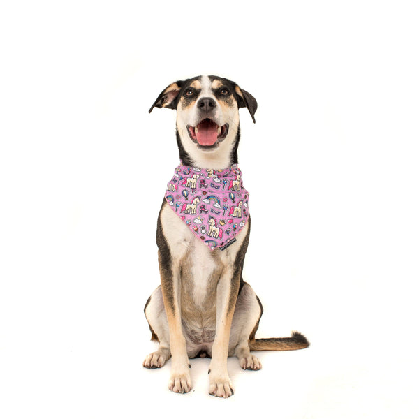 One of a Kind Unicorns and Rainbows Dog Cooling Neckerchief Bandana