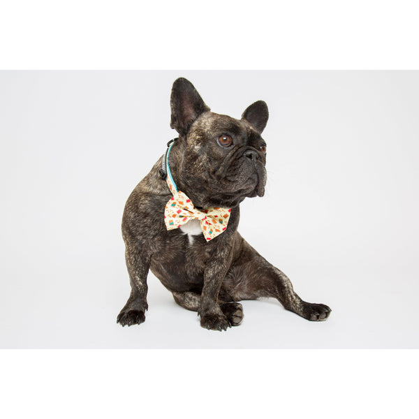 Peanut Butter Jelly Comfort Dog Collar and Bowtie