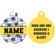 Premium Pet ID Tag | Sunset Palms