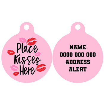 Pet ID Tag | Place Kisses Here