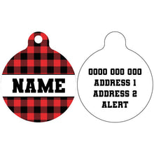 Premium Pet ID Tag | Plaid to the Bone