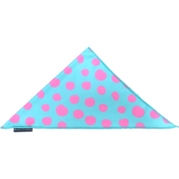 Neckerchief Bandana for Big and Small Dogs Polka Dots Pink