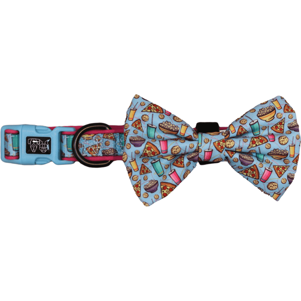 Pupflix and Chill Dog Collar and Bowtie