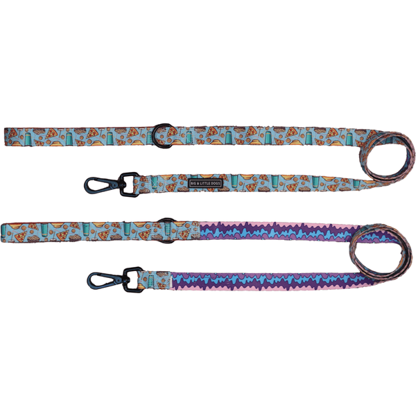 Pupflix and Chill and Melting Moments Neoprene Lined Dog Leash Lead