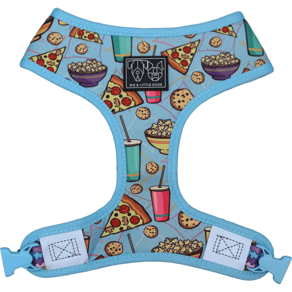 Pupflix and Chill and Melting Moments Reversible Dog Harness Front View