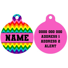 Pet ID Tag | Rainbow Drip (Pink)
