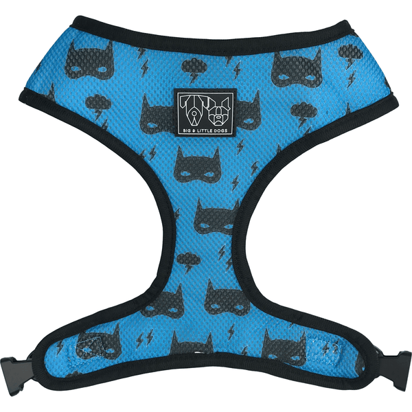 Dinosaur and Mask Reversible Dog Harness Reverse View