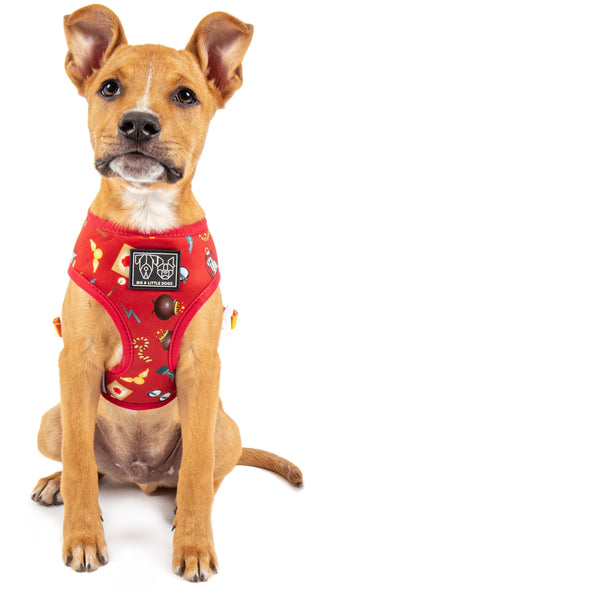Reversible Dog Harness Harry Potter Themed
