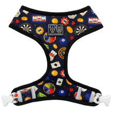 Reversible Dog Harness for Big and Small Dogs High Roller Las Vegas Money