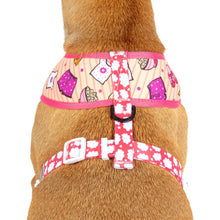 Reversible Dog Harness Slumber Party Sleepover Pillow Nail Polish Popcorn Cookies Clouds