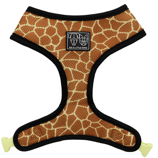 Reversible Dog Harness for Big and Small Dogs Standing Tall Giraffe in the Jungle
