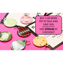 Pet ID Tag | Blue X's