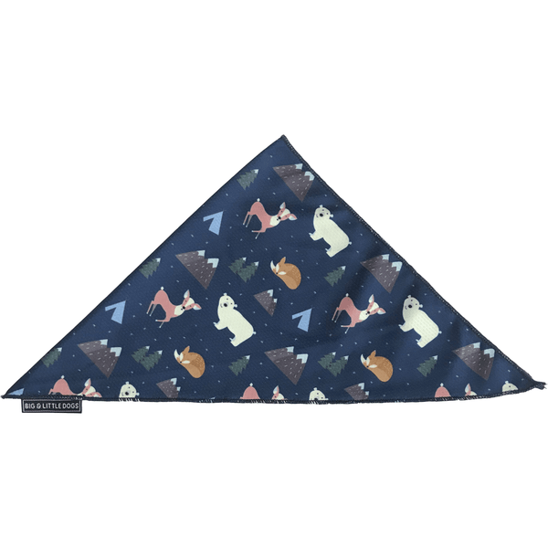Neckerchief Bandana for Big and Small Dogs Scandi Forest