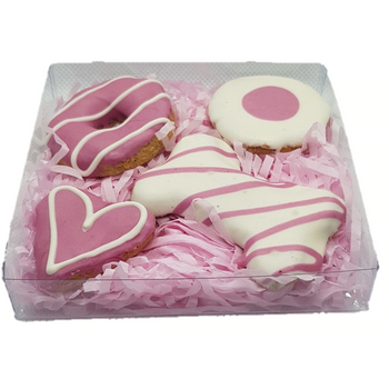 DOG TREATS Huds and Toke Mixed Cookie Box | Pink | 4 Pces (in GIFT BOX)