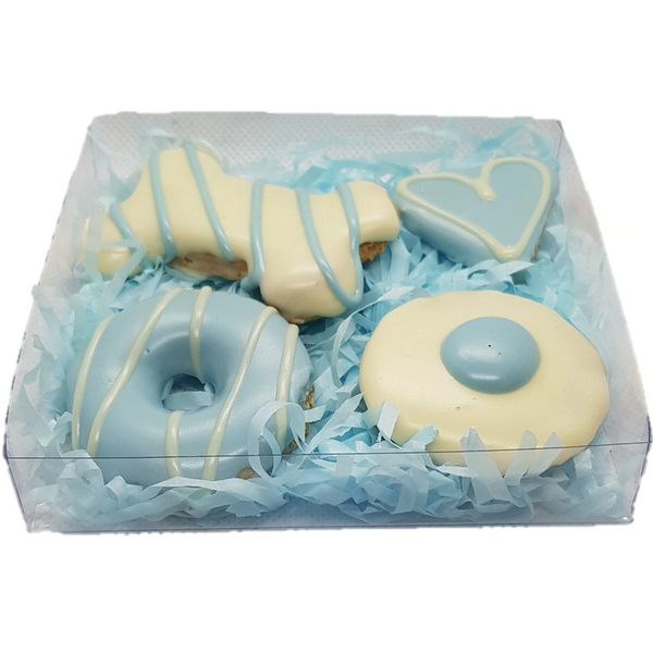 DOG TREATS Huds and Toke Mixed Cookie Box | Blue | 4 Pces (in GIFT BOX)