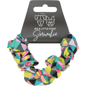 Hair Scrunchie All Sorts Colourful Geometric Pattern