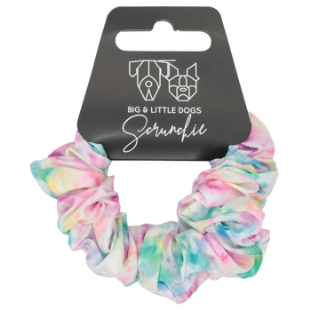 Hair Scrunchie Cotton Candy Pastel Tie Dye