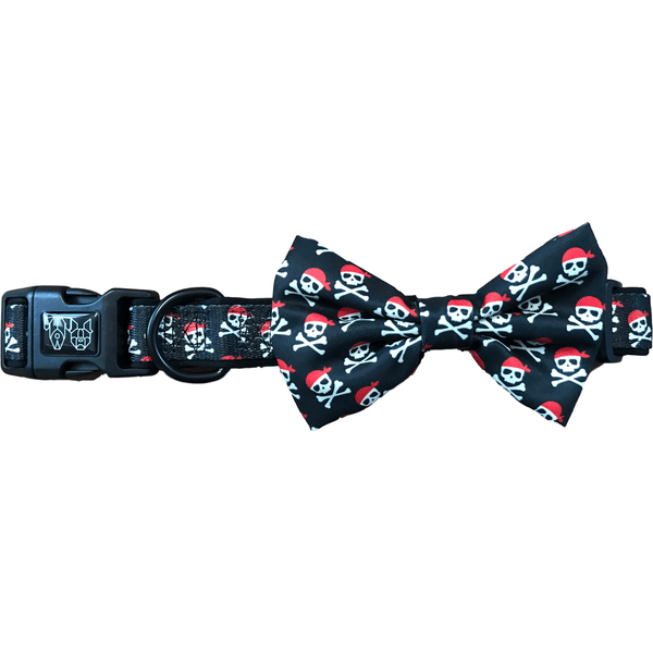 Dog Collar and Bowtie for Big and Small Dogs Sea Dog Pirates