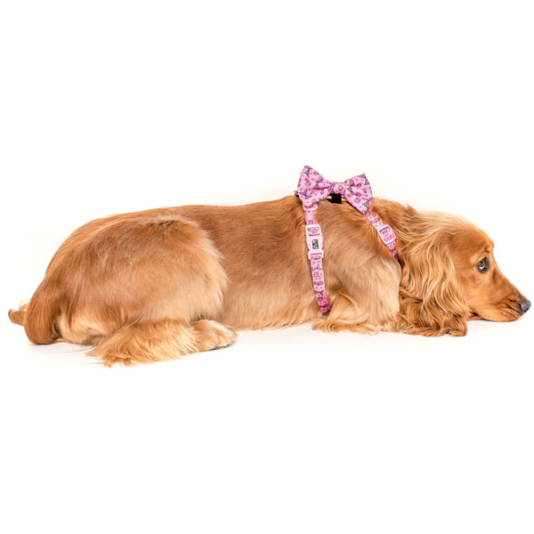 Sea Life Mermaid Dog Strap Harness with detatchable Bow Tie