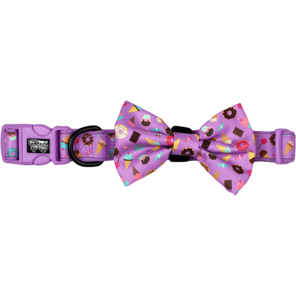 Sugar Coma Dessert Ice Cream Donut Dog Collar and Bowtie Set