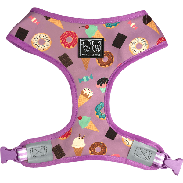 Dessert and Watermelon Reversible Dog Harness Front View