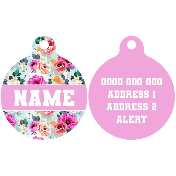 Premium Pet ID Tag | That Floral Feeling