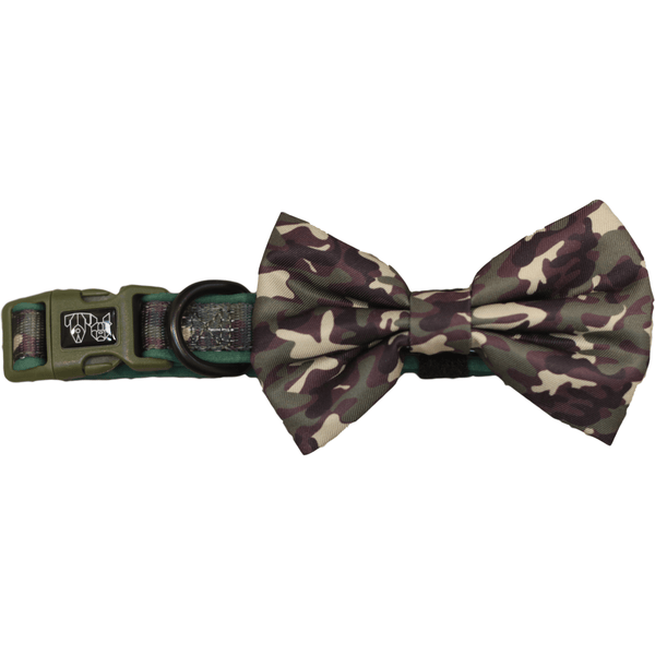 The General Camouflage Dog Collar and Bowtie