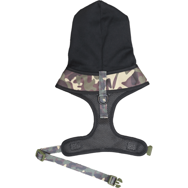 The General Camouflage Dog Hoody Harness Reverse View