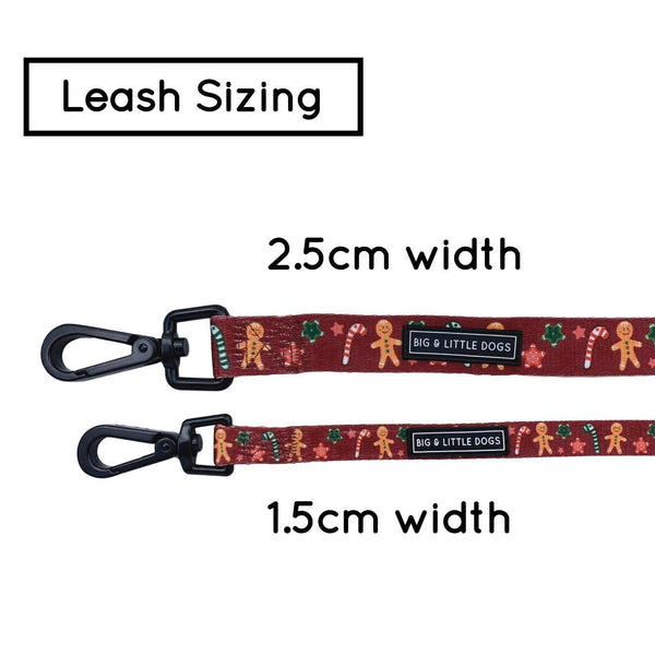 The Gingerbread Man Christmas and Stars Comfort Dog Leash