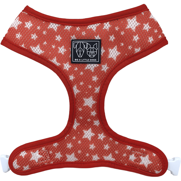 The Gingerbread Man Stars Christmas Reversible Dog Harness