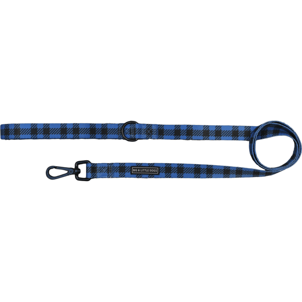 The Jack Blue Plaid Neoprene Lined Dog Leash Lead