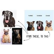 Pet Pawtrait | Printed Options | Triple Pet