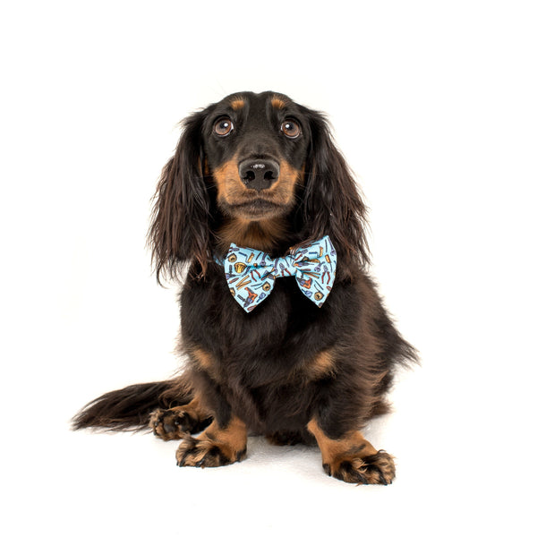 Under Construction Tools and Construction Comfort Dog Collar with Bow Tie
