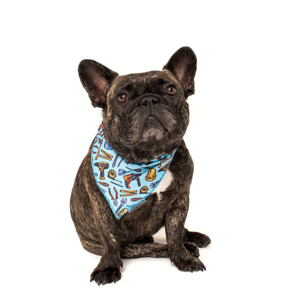 Under Construction Tools and Construction Dog Cooling Neckerchief Bandana