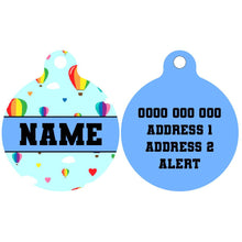 Pet ID Tag | Up, Up and Away (Blue)