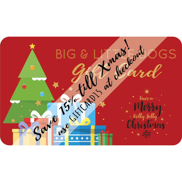 BIG & LITTLE DOGS Christmas Gift Card