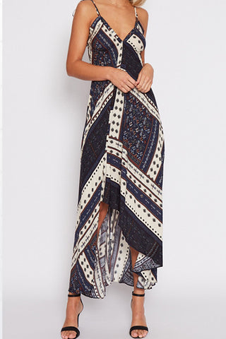 Poppoly Dancing Queen Irregular Maxi Dress