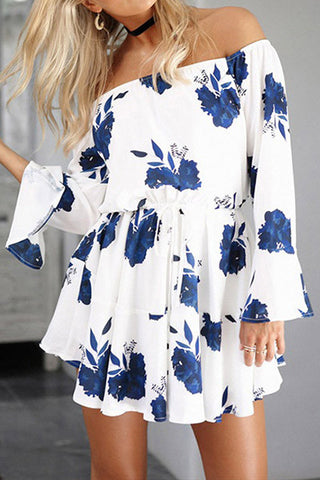 Poppoly Easy Way Floral White Romper