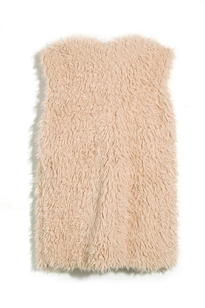 Poppoly Sugar Plum Shearling Pocketed Waist Coats