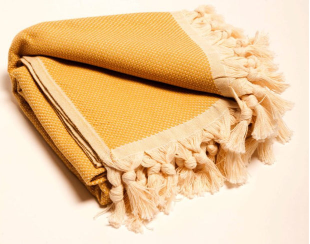 Golden boho throw - White Wood Boutique