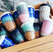 Ceramic reusable coffee cups - White Wood Boutique