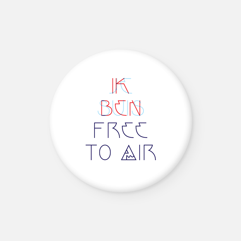 IK BEN FREE TO AIR <br>Button